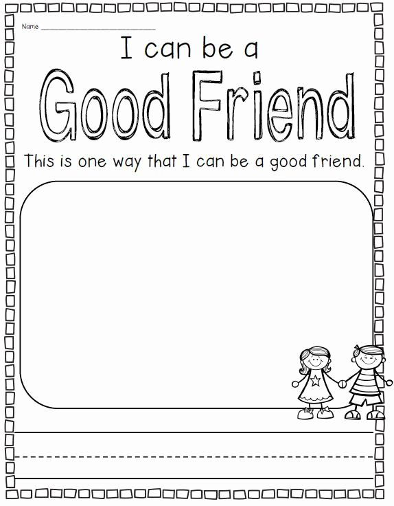 Friendship Worksheets for Preschoolers Beautiful Unit On School Rules Friendship and Respecting Others