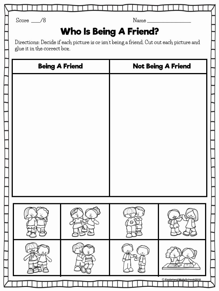 Friendship Worksheets for Preschoolers Lovely First Grade Blog Firstieland Friendship Activities for