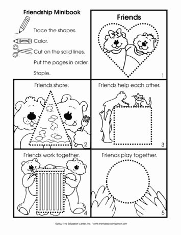 Friendship Worksheets for Preschoolers top A Friendship Booklet Project is Appropriate for Anytime Of