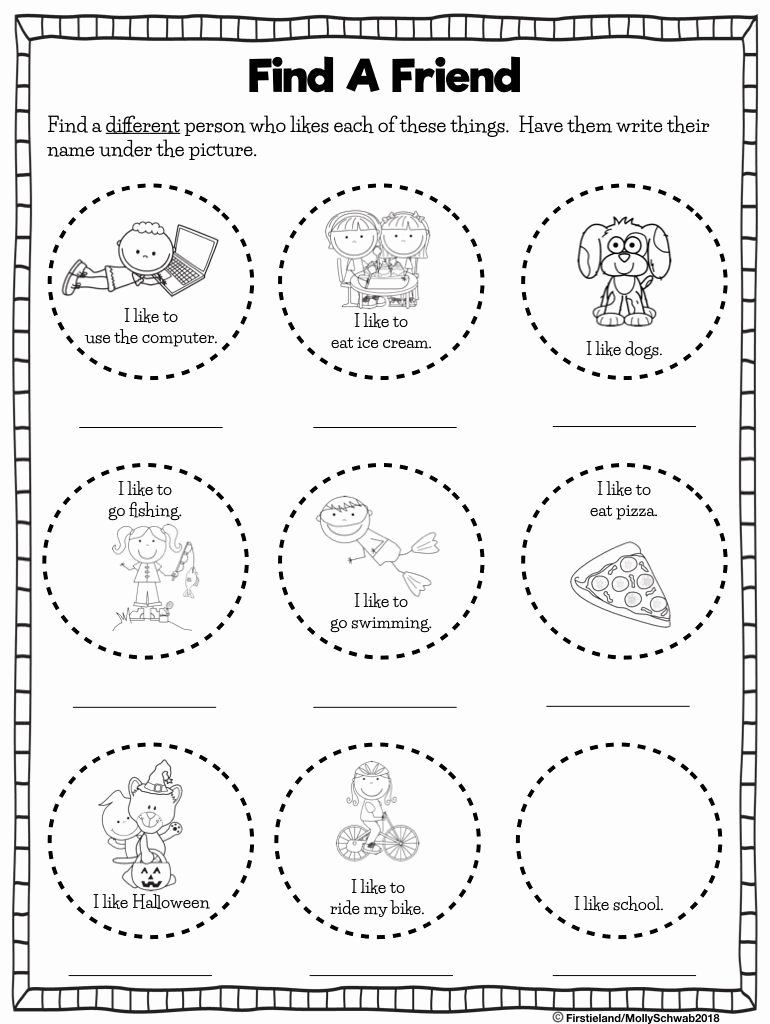 Friendship Worksheets for Preschoolers top First Grade Blog Firstieland Friendship Activities for