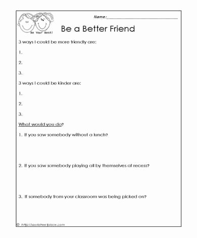 Friendship Worksheets for Preschoolers top How to Be A Better Friend Worksheets