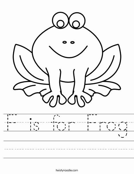 Frog Worksheets for Preschoolers Inspirational F is for Frog Worksheet