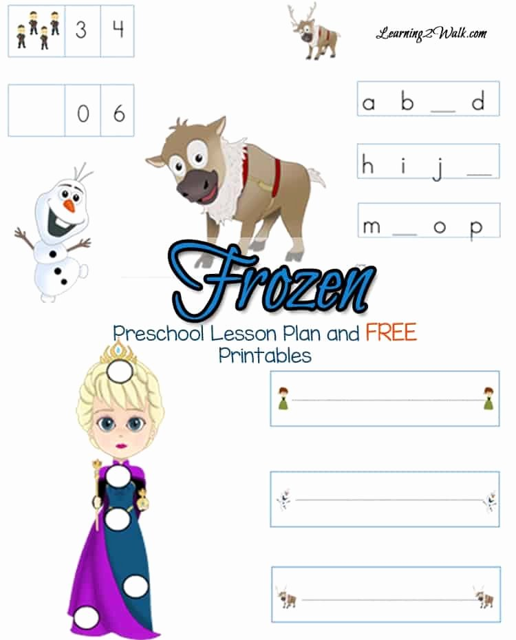 Frozen Worksheets for Preschoolers Awesome Frozen Preschool Lesson Plan