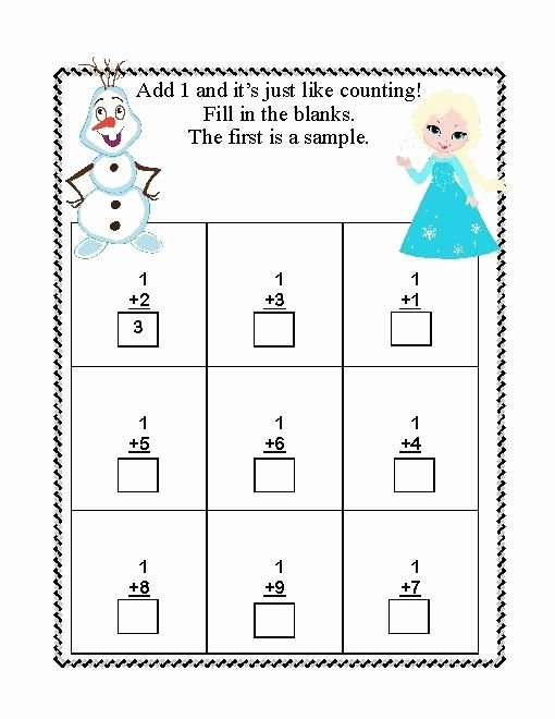 Frozen Worksheets for Preschoolers Beautiful Frozen Worksheets for Kindergarten