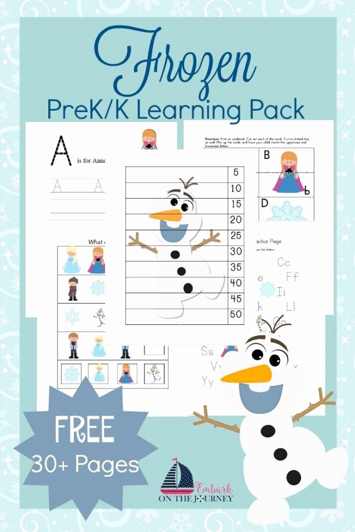 Frozen Worksheets for Preschoolers Best Of Free Frozen Printable Activities Preschool Learning