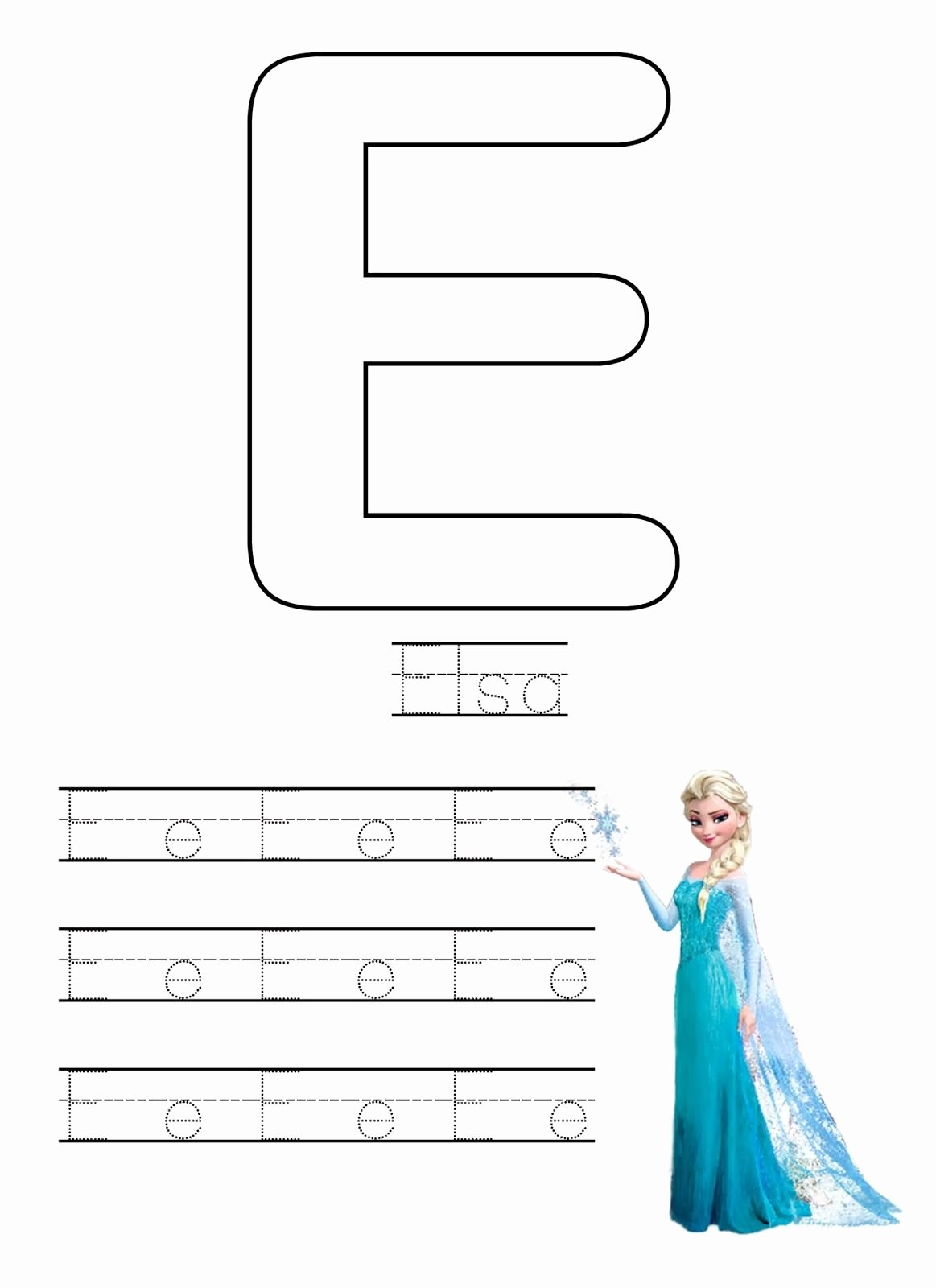 Frozen Worksheets for Preschoolers Best Of Free Frozen Writing Worksheets