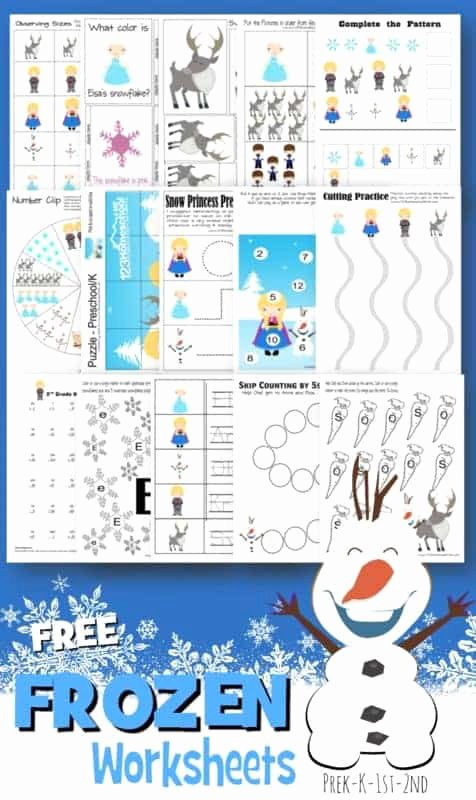 Frozen Worksheets for Preschoolers Fresh Free Frozen Worksheets for Kids
