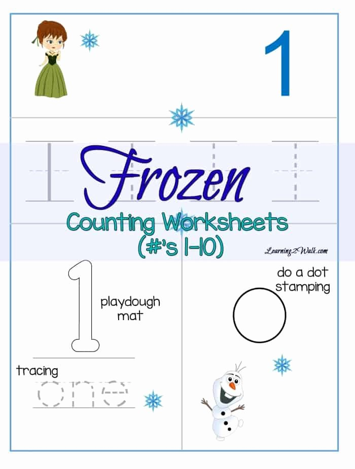 Frozen Worksheets for Preschoolers Inspirational Counting Frozen Worksheets