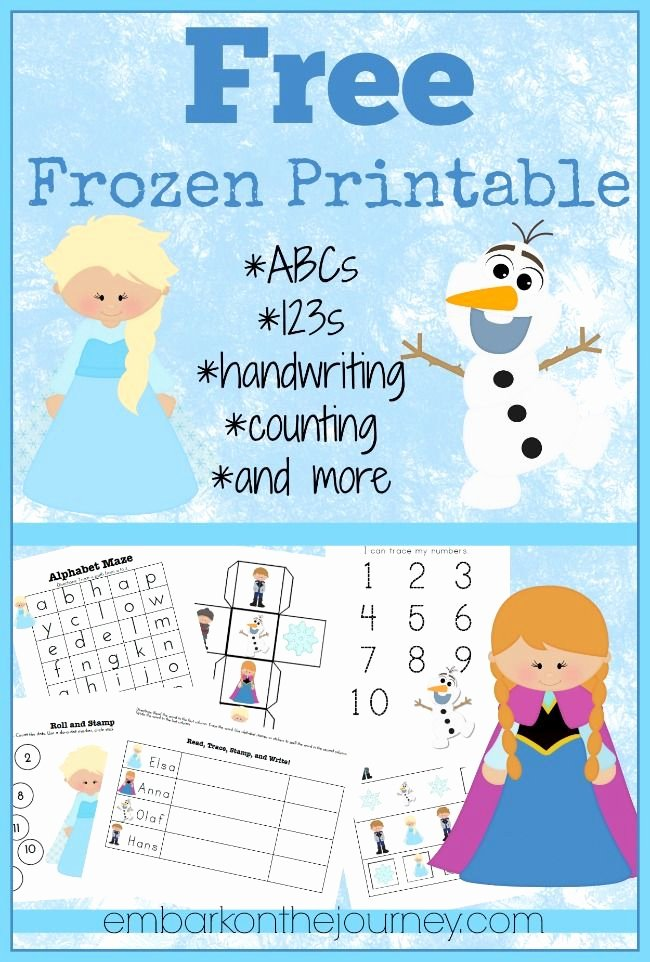 Frozen Worksheets for Preschoolers top Free Frozen Printable Activities
