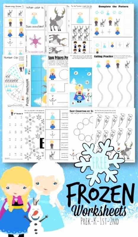 Frozen Worksheets for Preschoolers top Free Frozen Worksheets for Kids