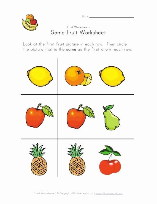 Fruits and Vegetables Worksheets for Preschoolers Best Of Fruit and Ve Able Worksheet for Kids