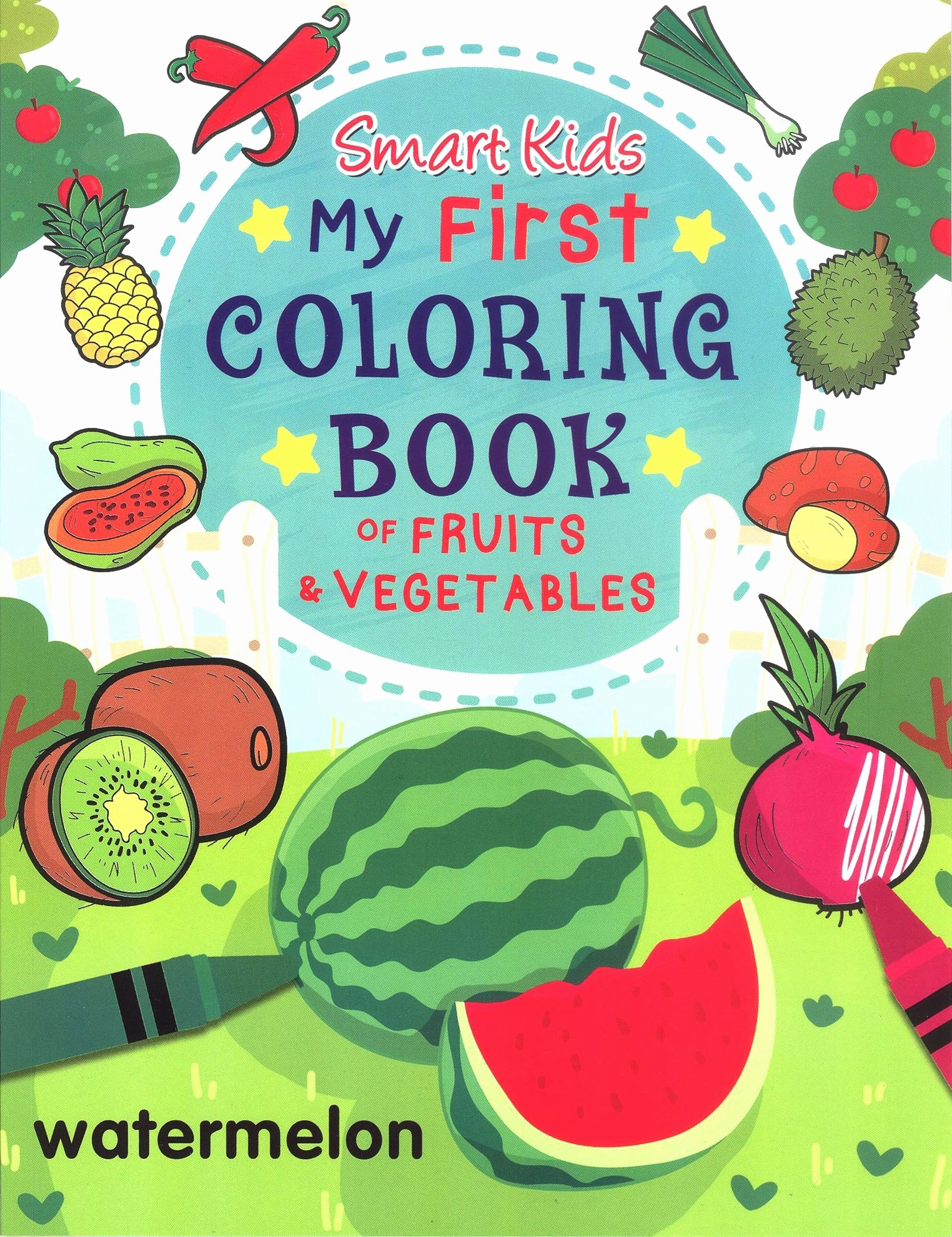 Fruits and Vegetables Worksheets for Preschoolers New Ws Smart Kids My First Coloring Book Fruits