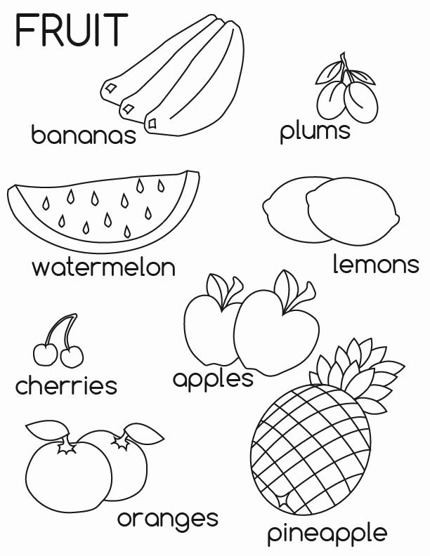 Fruits Worksheets for Preschoolers Awesome Free Printable Fruit Coloring for Kids Worksheets