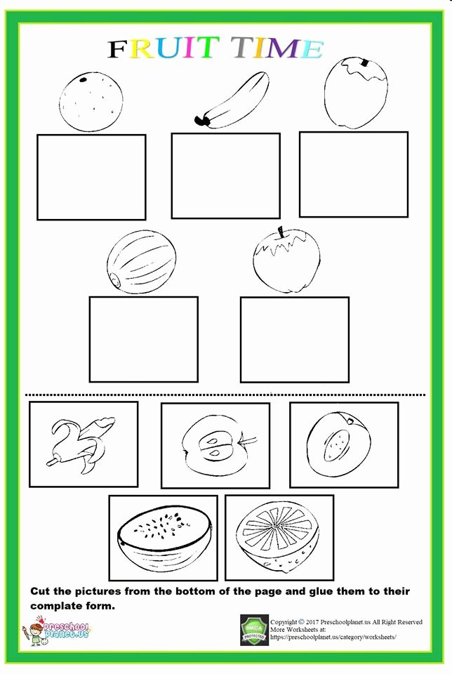 Fruits Worksheets for Preschoolers Beautiful Fruit Worksheet – Preschoolplanet