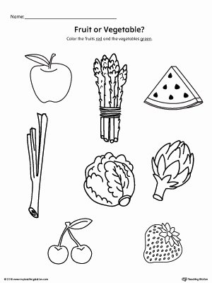 Fruits Worksheets for Preschoolers Fresh Coloring Pages Color the Fruits and Ve Ables Worksheet