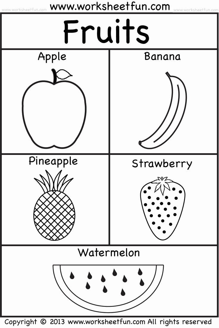 Fruits Worksheets for Preschoolers Unique Fruits