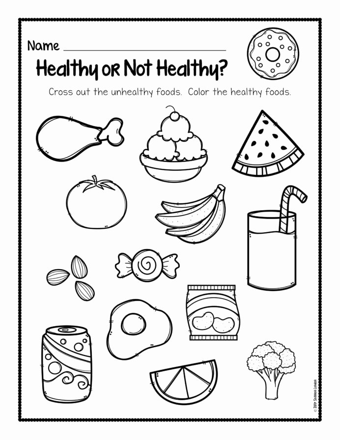 Fun Learning Worksheets for Preschoolers New Worksheet Worksheet Healthy Foods Free Habits for Kids Am