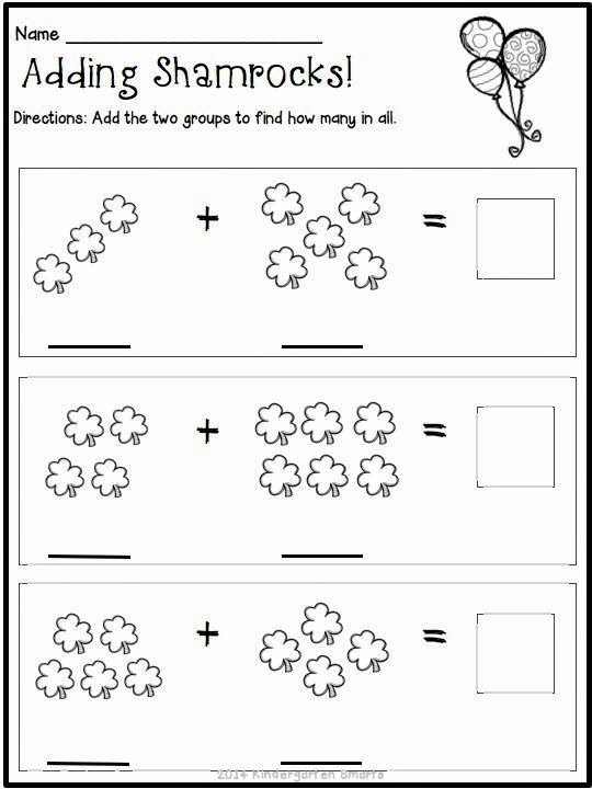 Fun Math Worksheets for Preschoolers Lovely Kindergarten Math Worksheets St Patricks Day with A Freebie