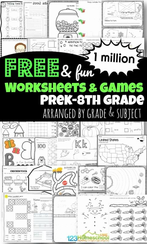 Fun Worksheets for Preschoolers Awesome 1 Million Free Worksheets for Kids