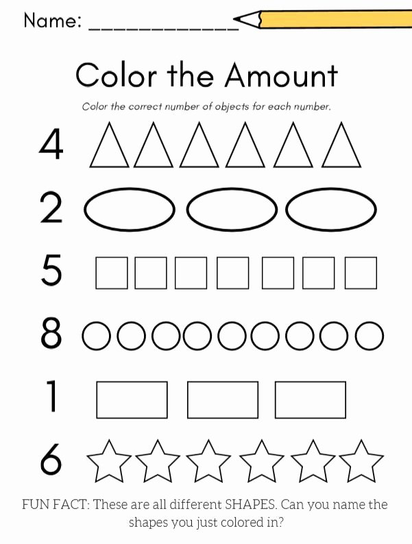 Fun Worksheets for Preschoolers Unique Kindergarten Math Numbers 1 10 Planning Playtime In 2020