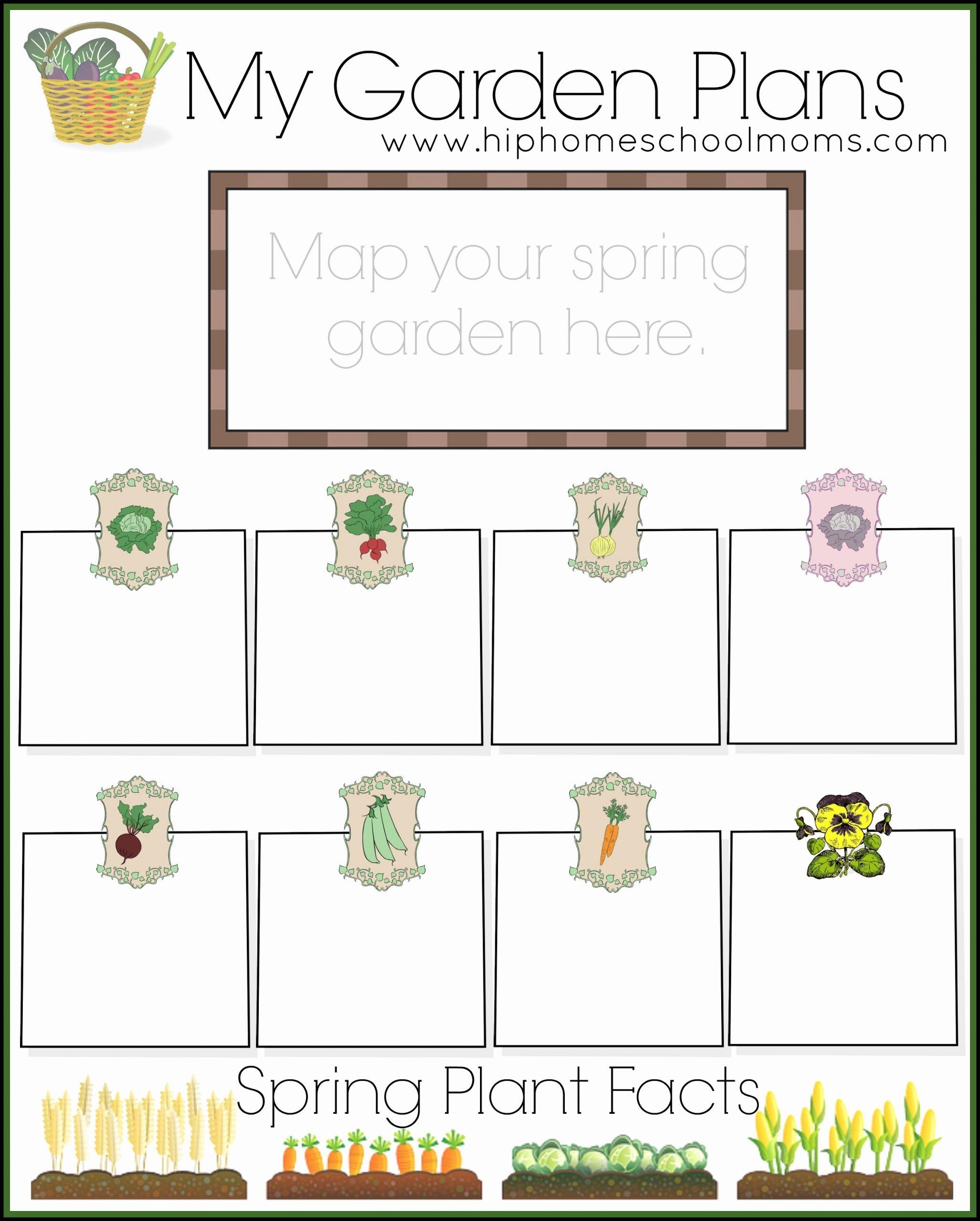 Gardening Worksheets for Preschoolers Fresh Free Garden Planner for Kids