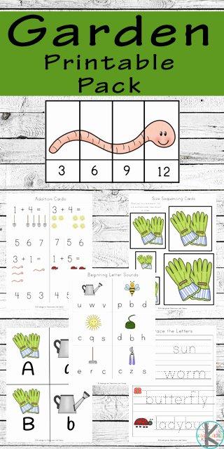 Gardening Worksheets for Preschoolers Fresh Free Garden Worksheets for Kindergarten