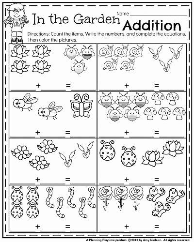 Gardening Worksheets for Preschoolers Unique Kindergarten Worksheets for May Planning Playtime