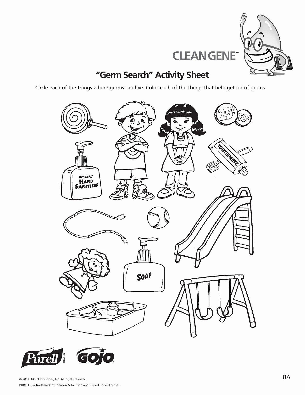 Germ Worksheets for Preschoolers Awesome Germ Worksheet