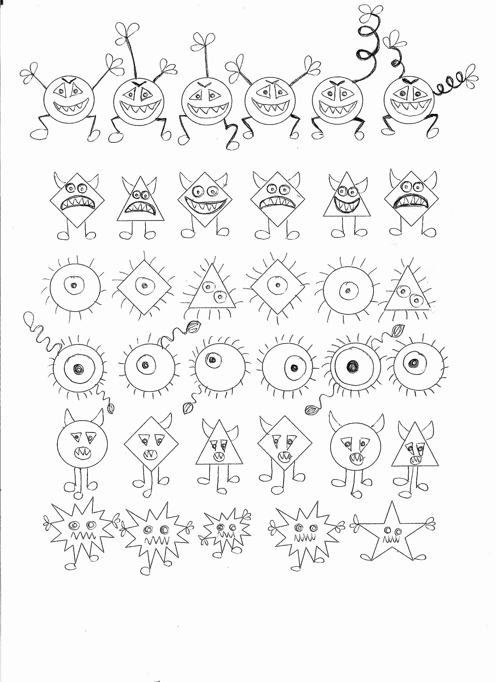 Germ Worksheets for Preschoolers Fresh Germ theme Math Activity Find the Germ that Doesn´t Belong