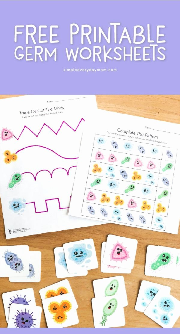Germ Worksheets for Preschoolers Inspirational Free Printable Germ Worksheets for Kindergarten
