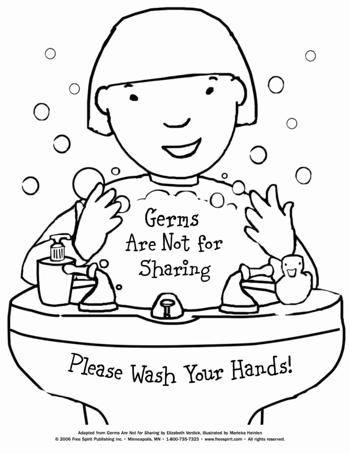 Germ Worksheets for Preschoolers New Free Printable Coloring to Teach Kids About Hygiene Germs