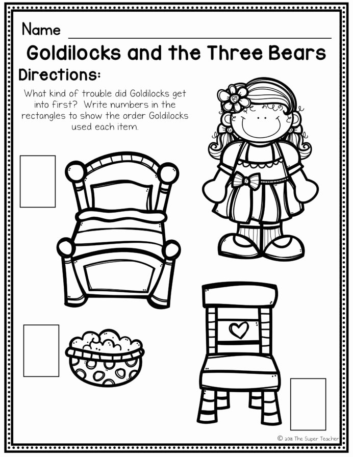 Goldilocks and the Three Bears Worksheets for Preschoolers Beautiful Goldilocks and the Three Bears Elements Writing Worksheets