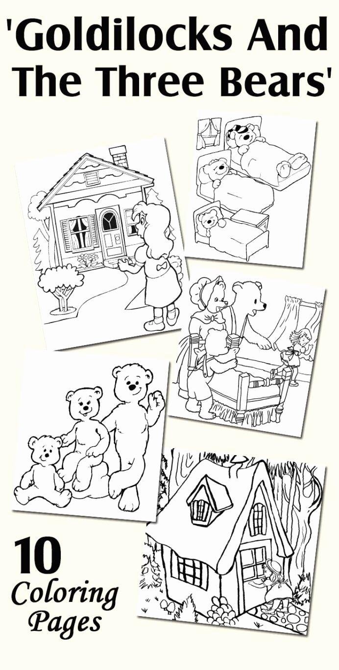 Goldilocks and the Three Bears Worksheets for Preschoolers Beautiful Worksheets Page 192 Goldilocks Coloring Pages Printable