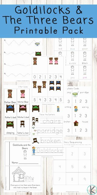 Goldilocks and the Three Bears Worksheets for Preschoolers Unique Free Goldilocks and the Three Bears Worksheets