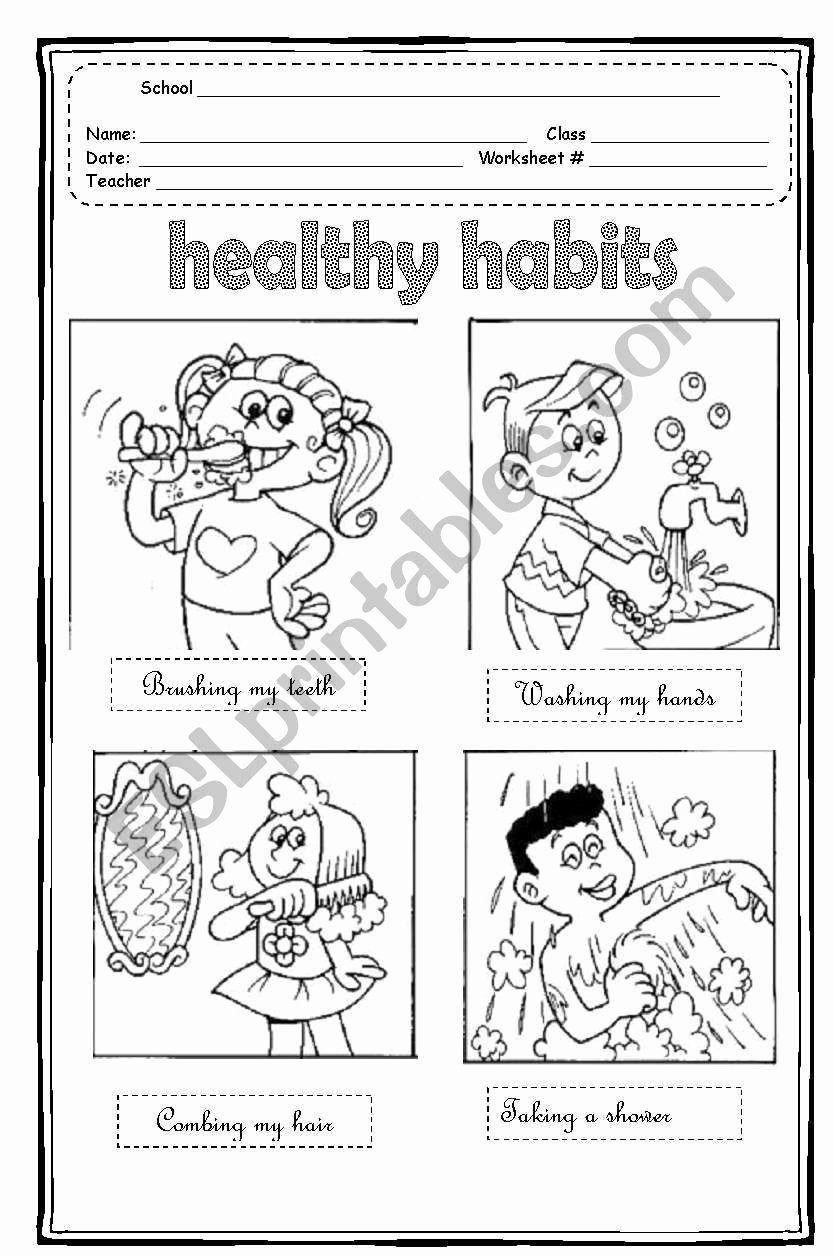 Good Habits Worksheets for Preschoolers Awesome A Speaking Activity About the Daily Activities Like