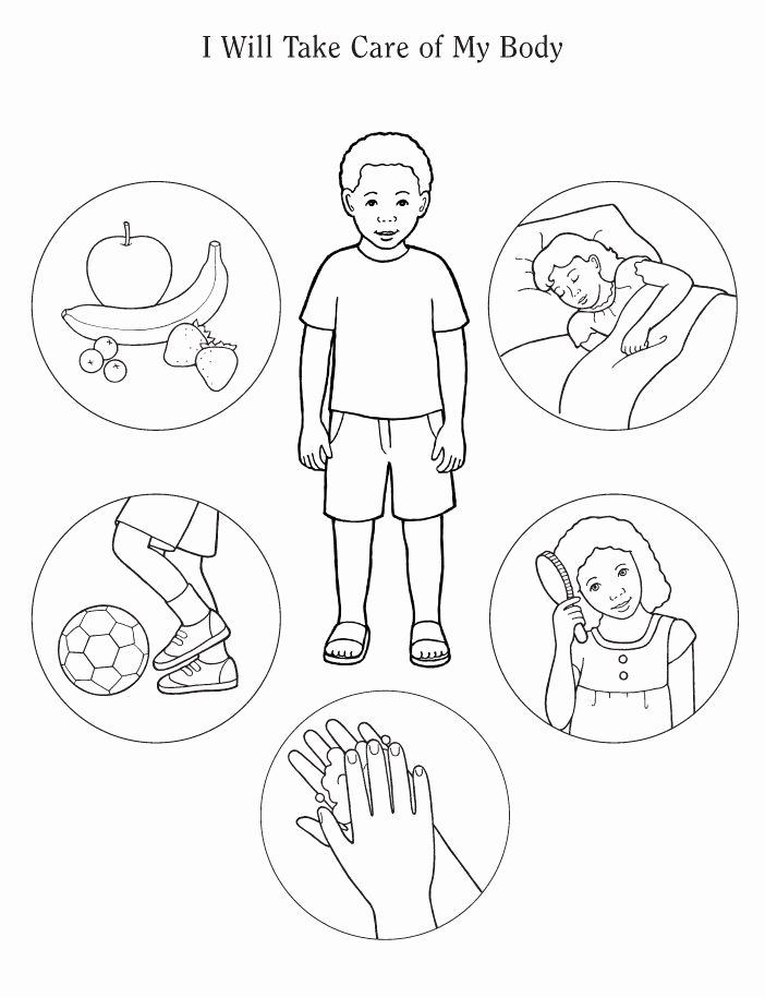 Good Habits Worksheets for Preschoolers Lovely Human Body Coloring Preschool Healthy Habits for
