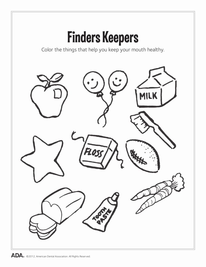 Good Habits Worksheets for Preschoolers New Dental Health Activities Puzzle Fun Printable Healthy Habits
