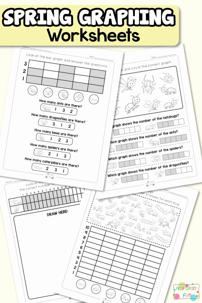 Graphing Worksheets for Preschoolers Awesome Spring Graphing Worksheets Itsybitsyfun