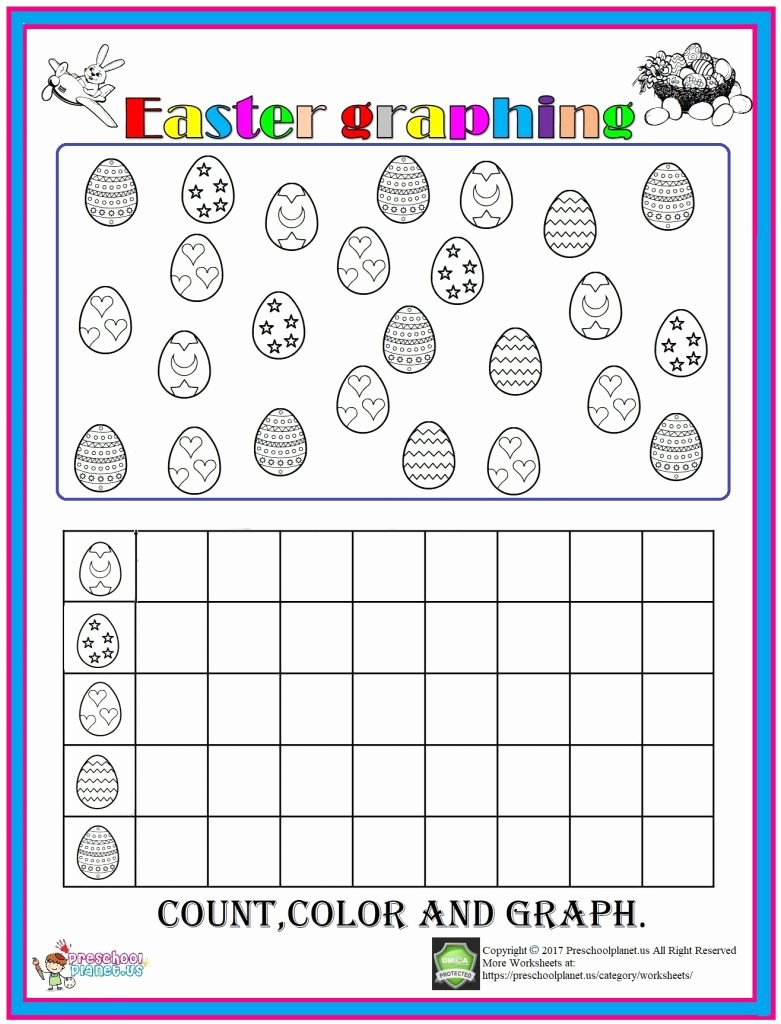Graphing Worksheets for Preschoolers Best Of Easter Graph Worksheet – Preschoolplanet