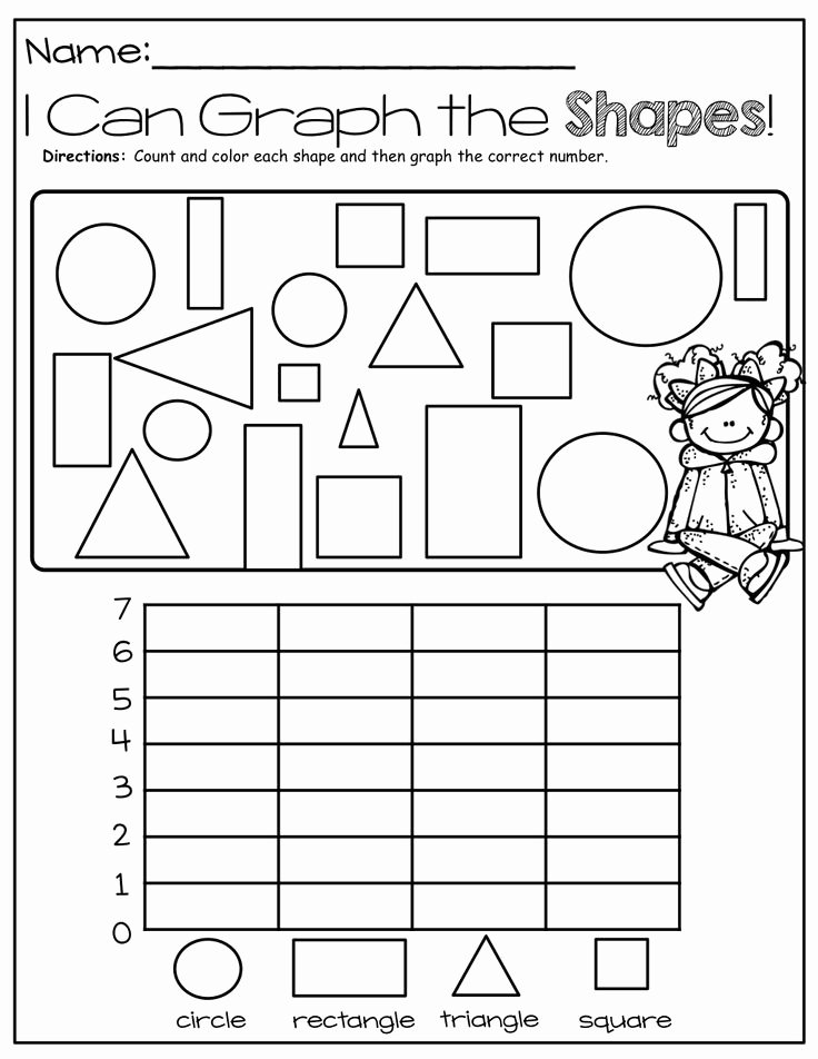 Graphing Worksheets for Preschoolers Lovely Shape Graph Worksheet