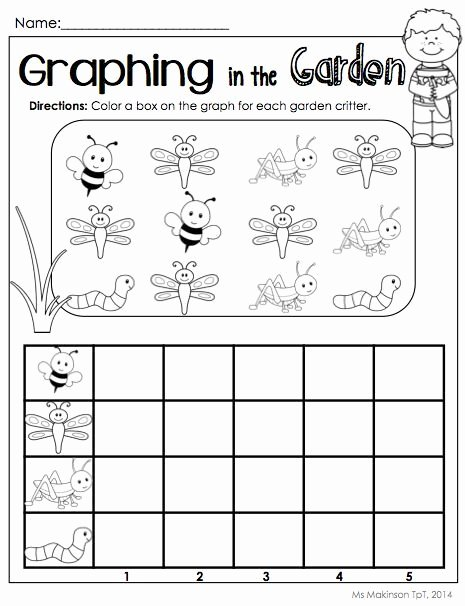 Graphing Worksheets for Preschoolers New Bug Graph Worksheet