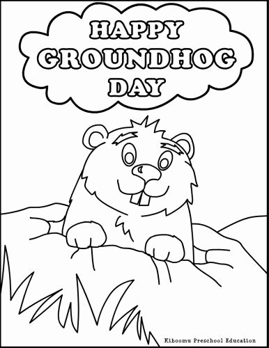 Groundhog Day Worksheets for Preschoolers Best Of Need A Coloring Activity for Groundhog Day Try This