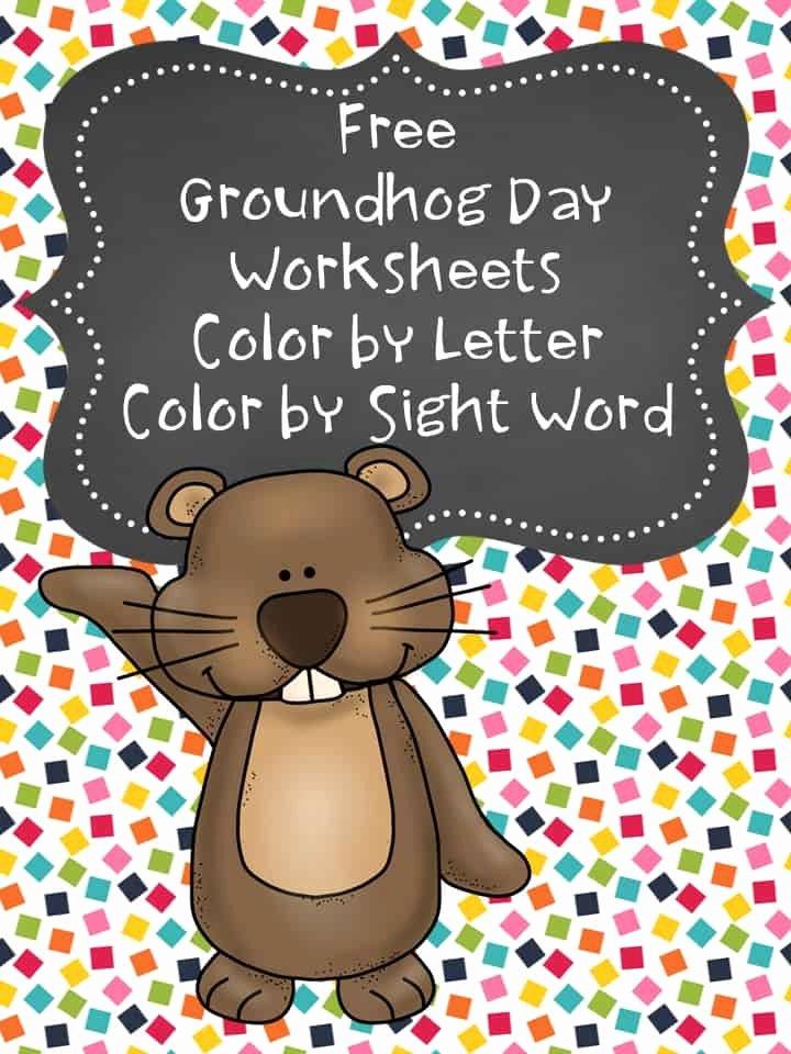 Groundhog Day Worksheets for Preschoolers Inspirational Free Groundhog Day Coloring Pages Preschool Kindergarten