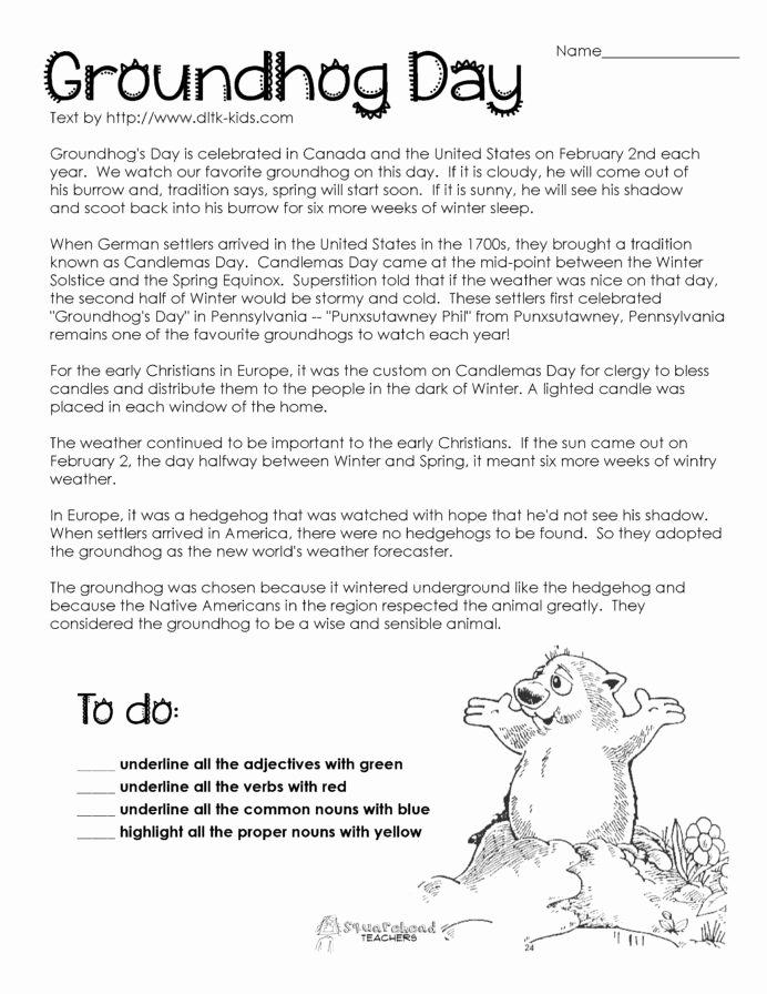 Groundhog Day Worksheets for Preschoolers Inspirational Groundhog Prehension Worksheets Google Search 2nd Grade