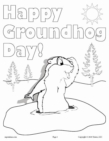 Groundhog Day Worksheets for Preschoolers top Printable Groundhog Day Coloring Page