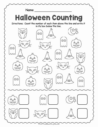 Halloween Counting Worksheets for Preschoolers Beautiful Free Printable Halloween Counting Worksheet