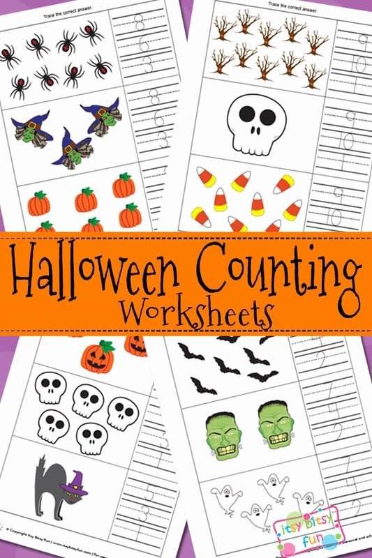 Halloween Counting Worksheets for Preschoolers Fresh Halloween Counting Worksheets Itsybitsyfun