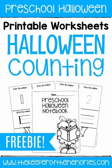 Halloween Counting Worksheets for Preschoolers top Free Printable Numbers Halloween Preschool Worksheets