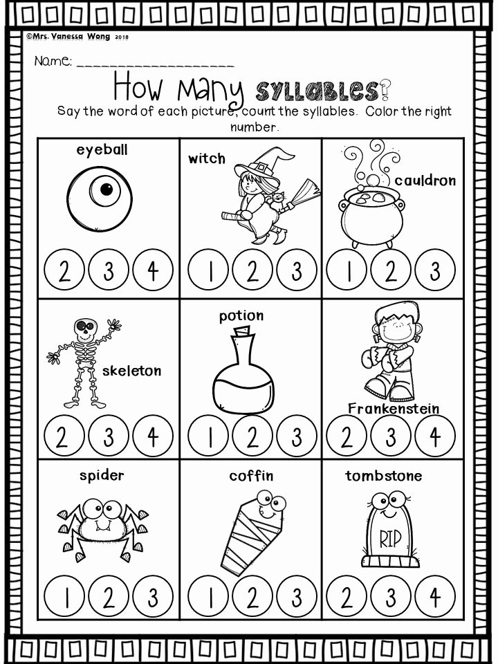 Halloween Printable Worksheets for Preschoolers Awesome Halloween Activities for Kindergarten Math and Literacy No