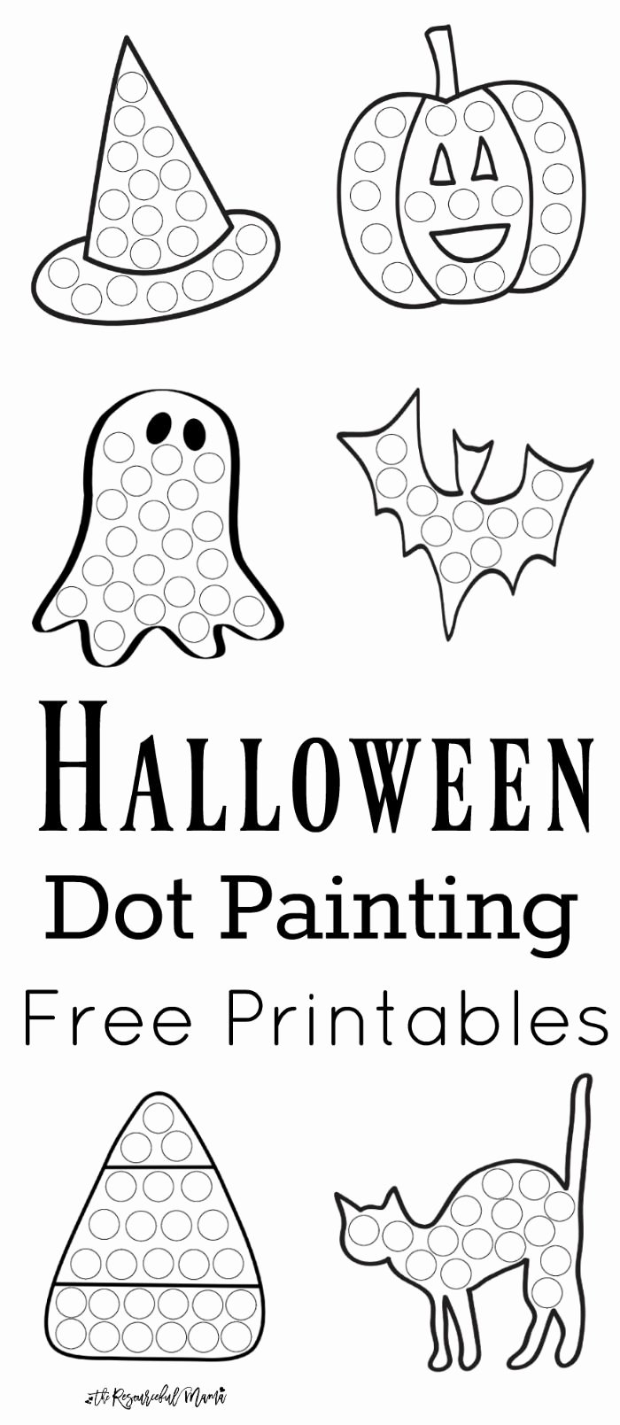 Halloween Printable Worksheets for Preschoolers Lovely Halloween Dot Painting Free Printables